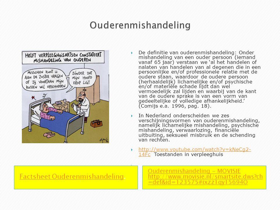 Ouderenmishandeling Factsheet Ouderenmishandeling.