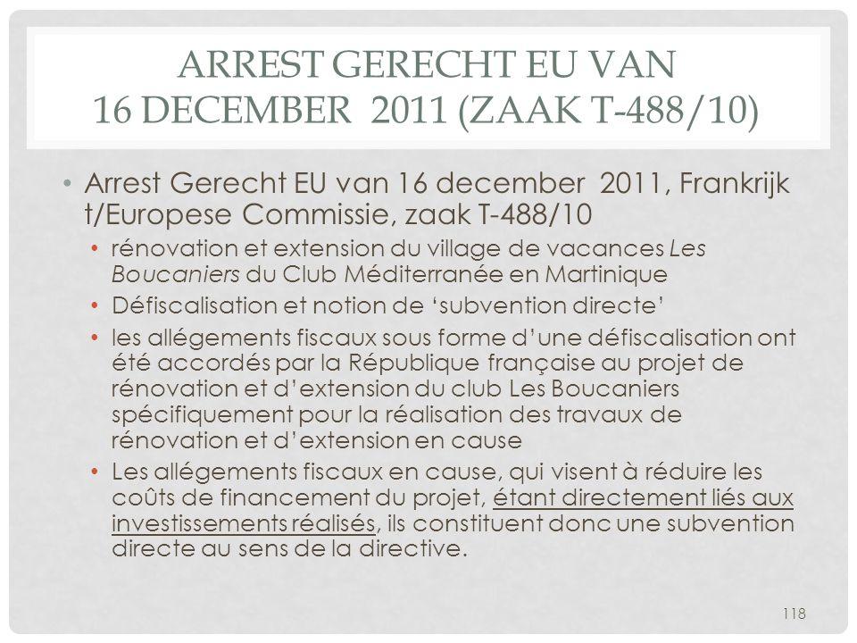 Arrest Gerecht EU van 16 december 2011 (zaak T-488/10)