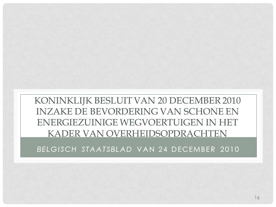 Belgisch staatsblad van 24 december 2010