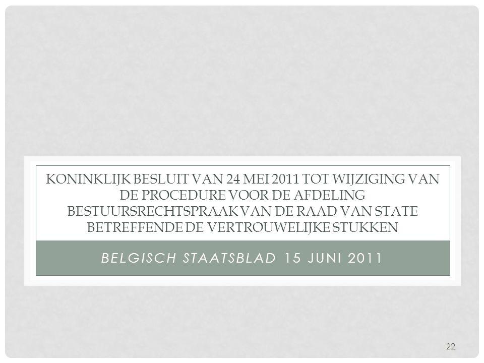 Belgisch Staatsblad 15 juni 2011
