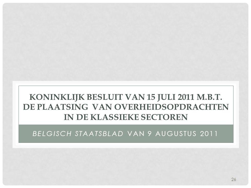 Belgisch Staatsblad van 9 augustus 2011