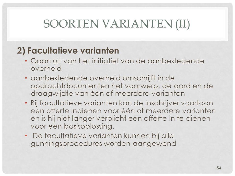 Soorten varianten (II)