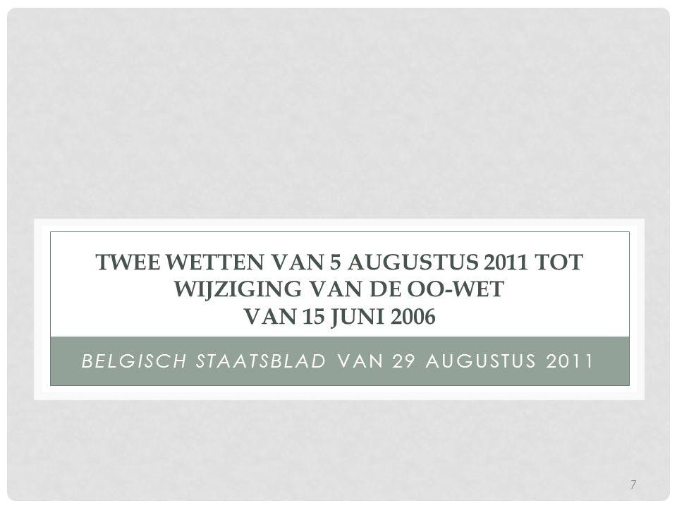 Belgisch Staatsblad van 29 augustus 2011