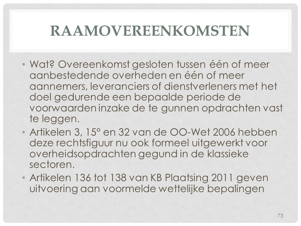 raamovereenkomsten