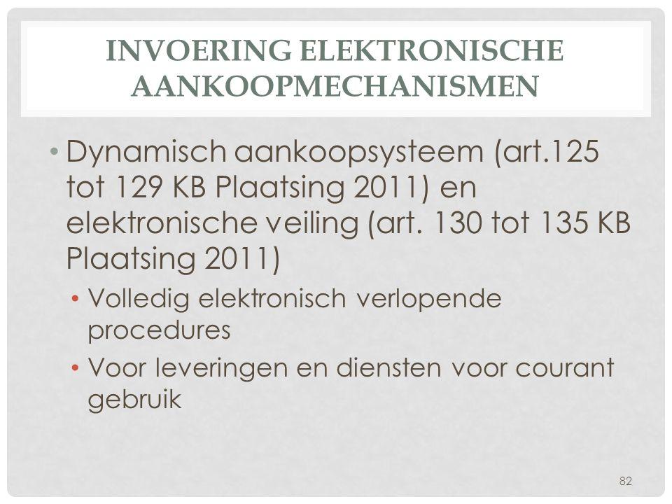 Invoering elektronische aankoopmechanismen
