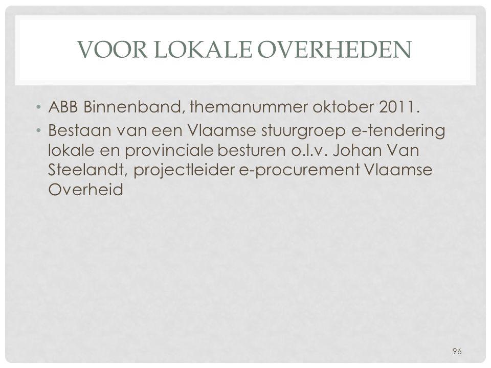 Voor lokale overheden ABB Binnenband, themanummer oktober 2011.