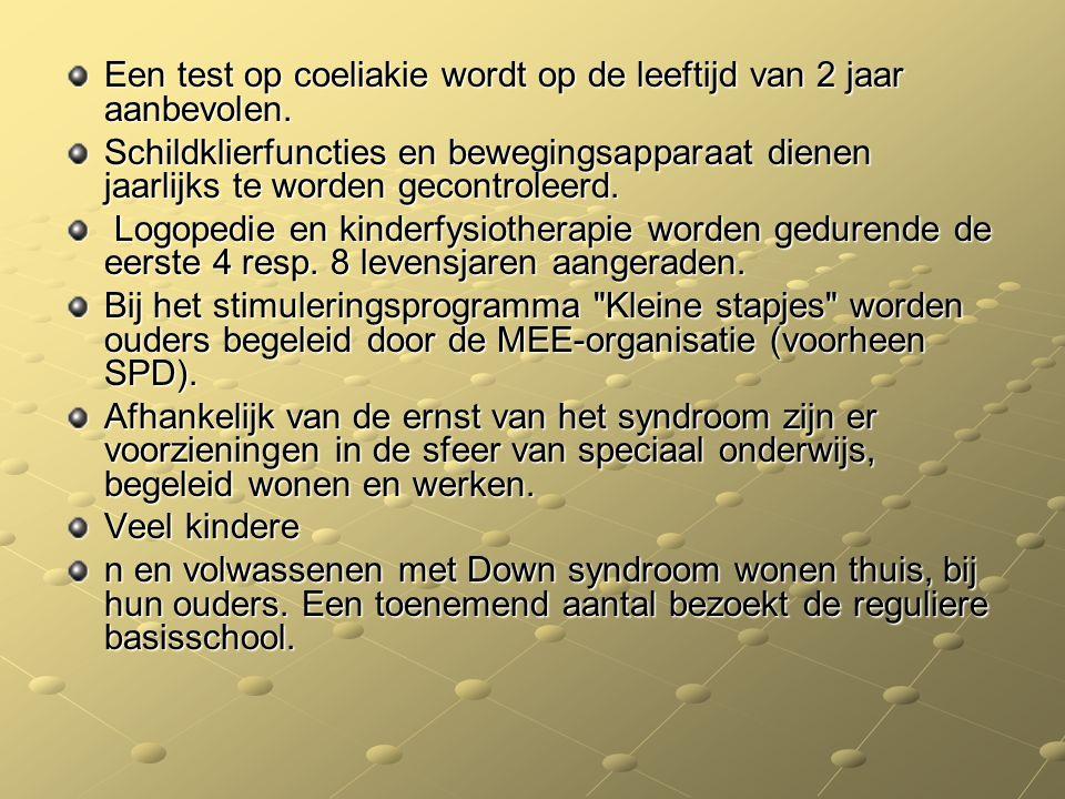 Een test op coeliakie wordt op de leeftijd van 2 jaar aanbevolen.