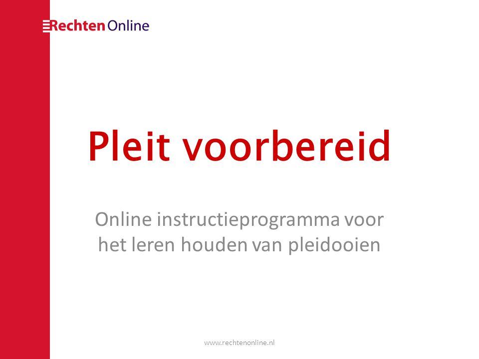 Online instructieprogramma voor het leren houden van pleidooien