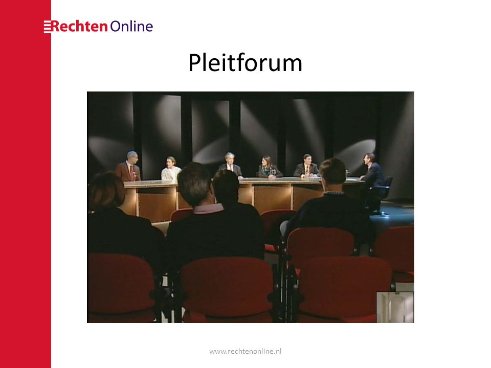 Pleitforum www.rechtenonline.nl