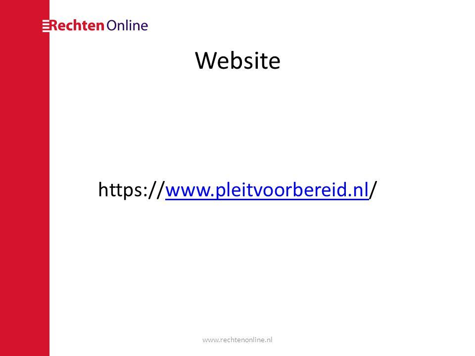 Website https://www.pleitvoorbereid.nl/ www.rechtenonline.nl