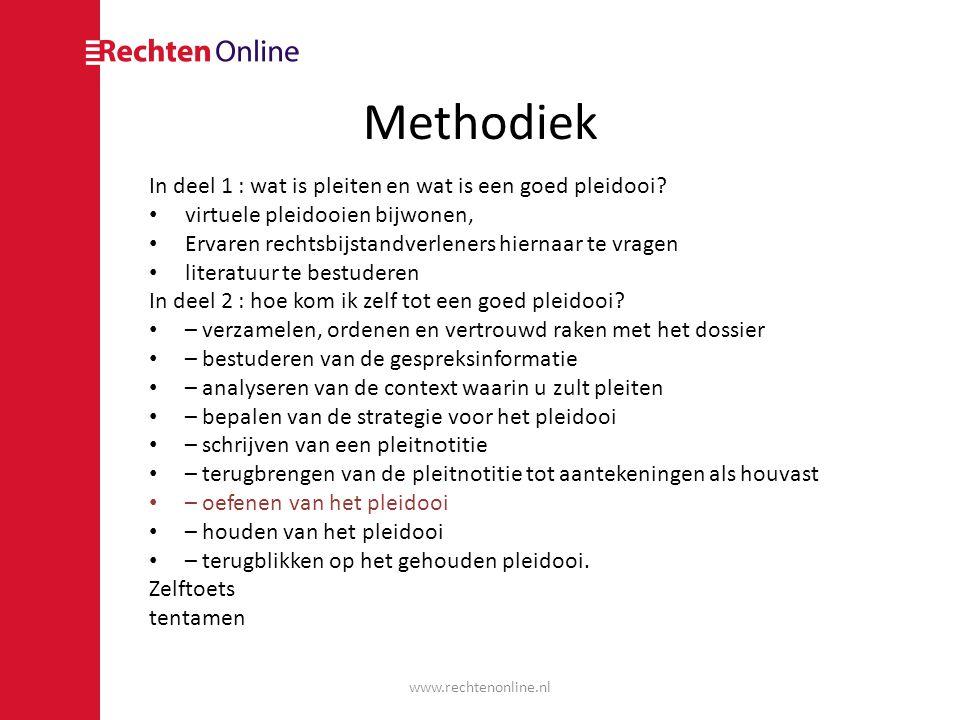 Methodiek In deel 1 : wat is pleiten en wat is een goed pleidooi