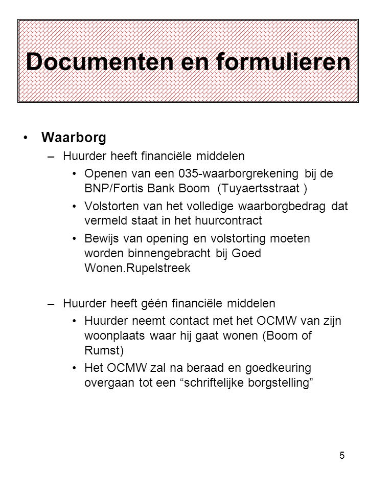Documenten en formulieren
