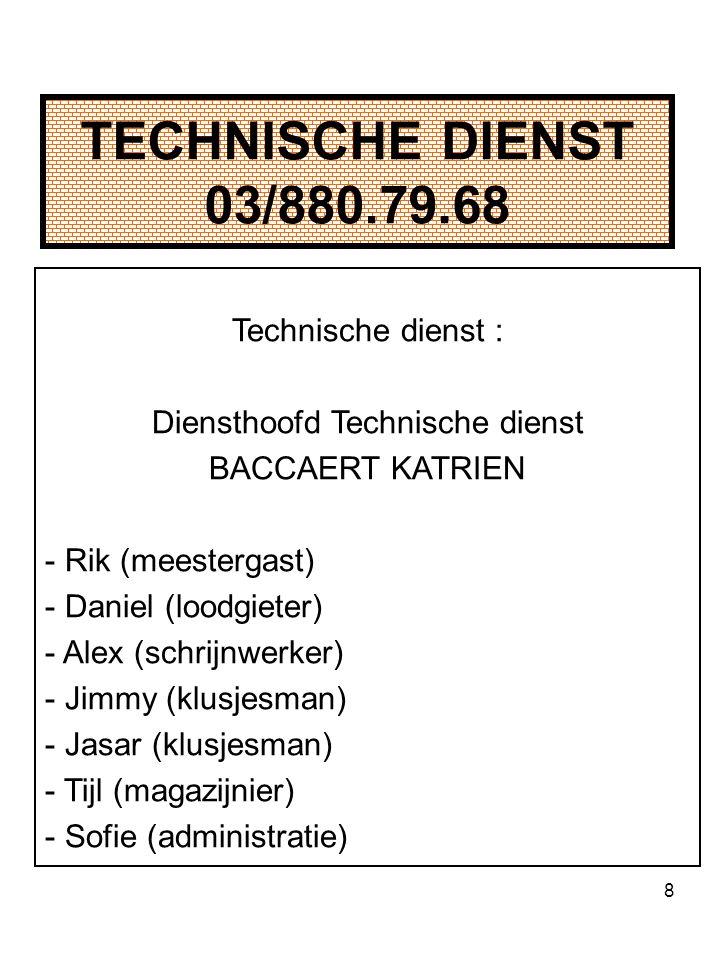 Diensthoofd Technische dienst