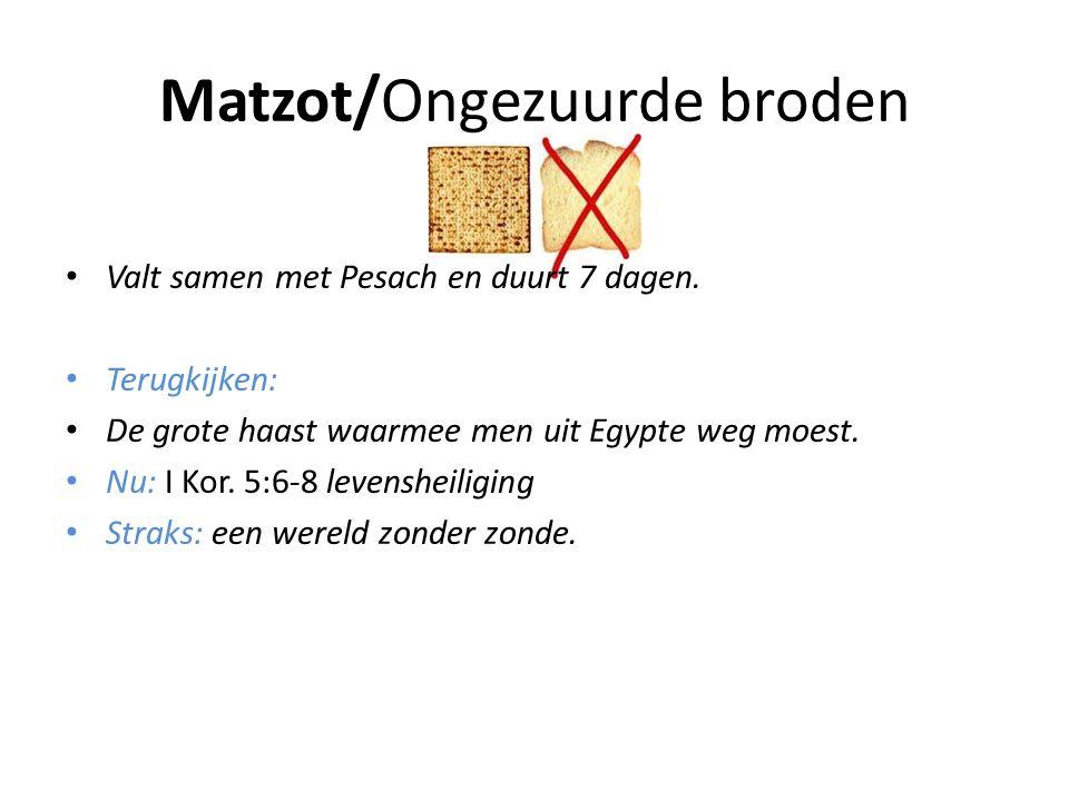 Matzot/Ongezuurde broden