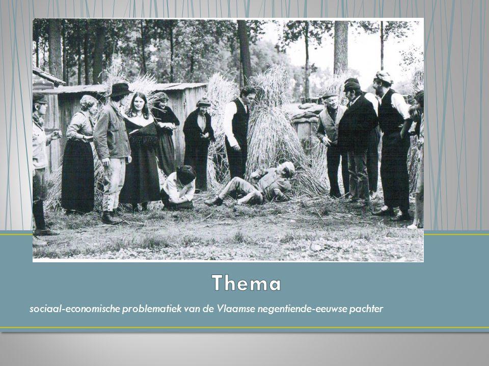 Thema sociaal-economische problematiek van de Vlaamse negentiende-eeuwse pachter