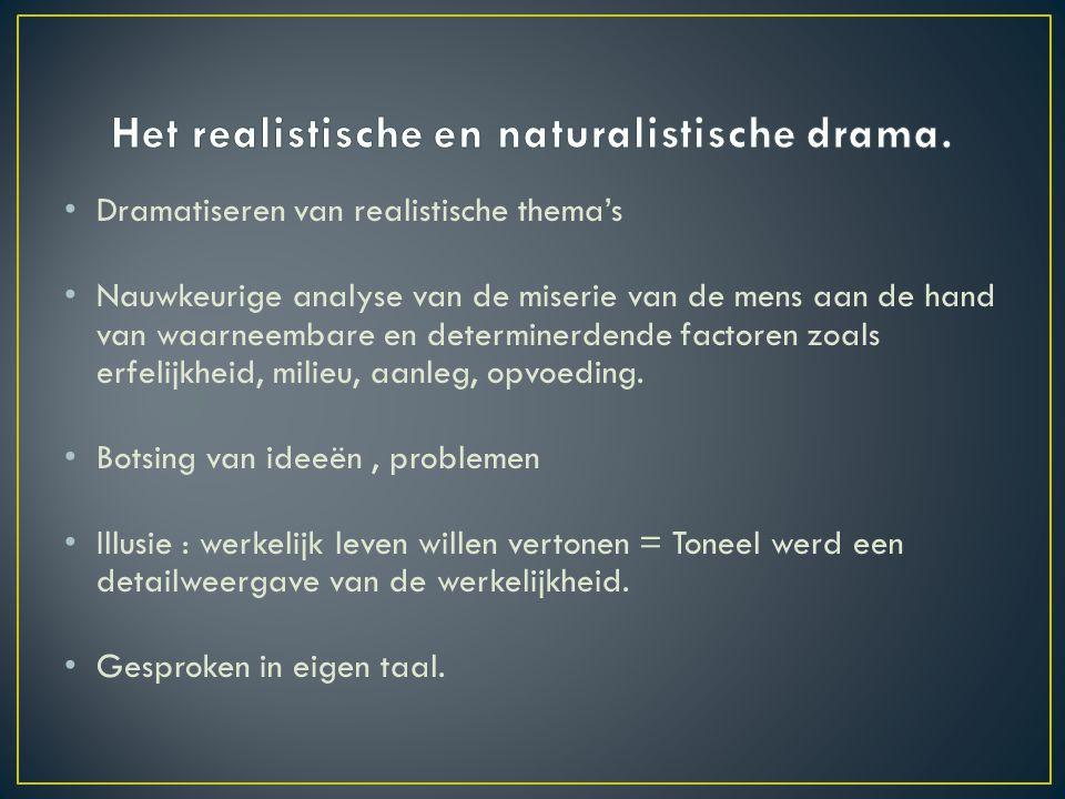 Het realistische en naturalistische drama.