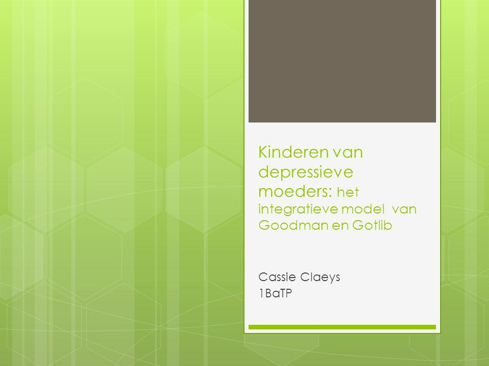 Kinderen van depressieve moeders: het integratieve model van Goodman en Gotlib