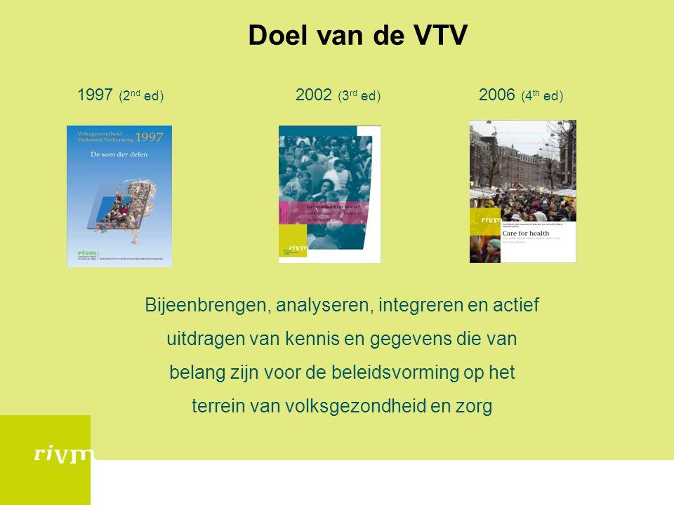 Doel van de VTV Bijeenbrengen, analyseren, integreren en actief