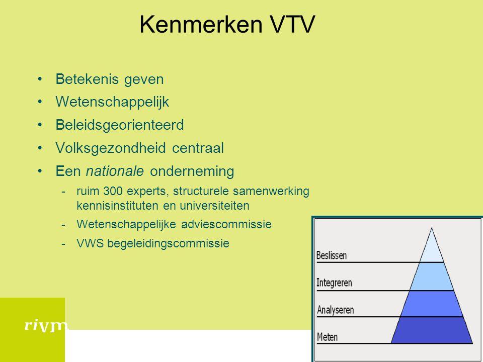 Kenmerken VTV Betekenis geven Wetenschappelijk Beleidsgeorienteerd