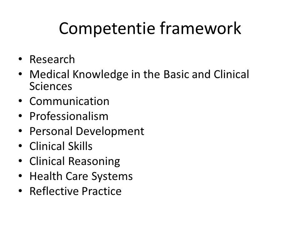 Competentie framework