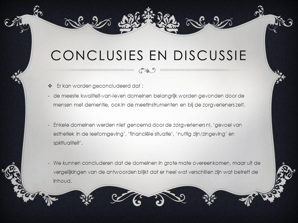 Conclusies en discussie