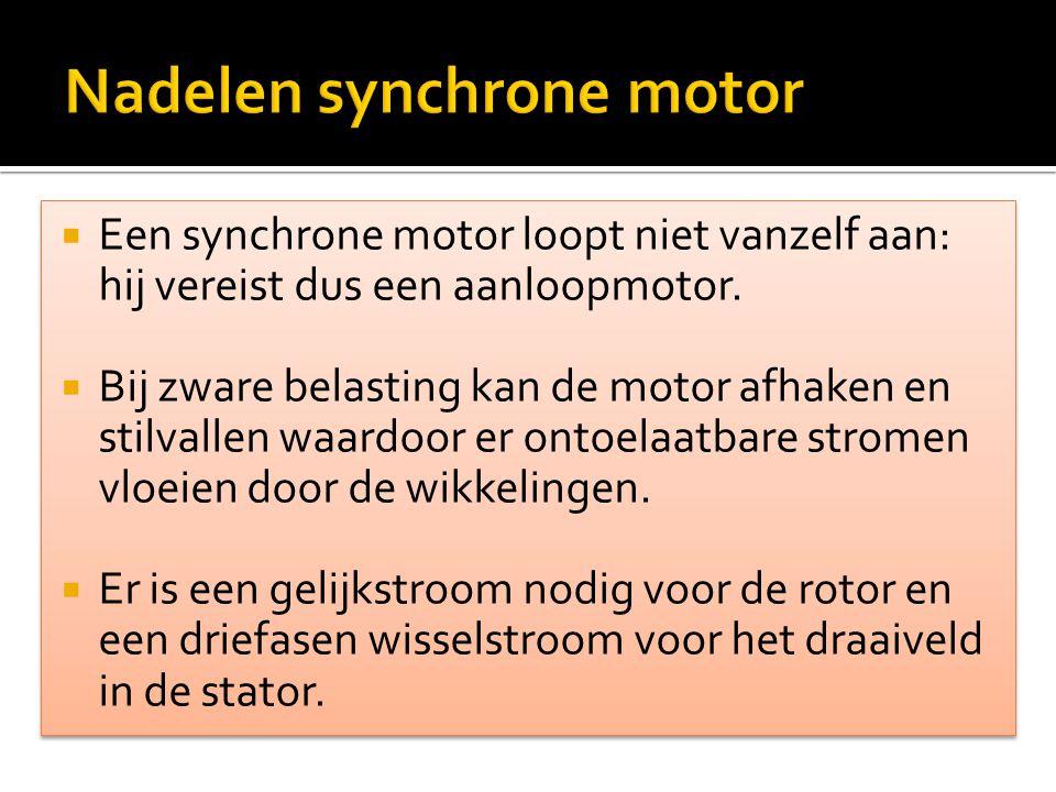 Nadelen synchrone motor