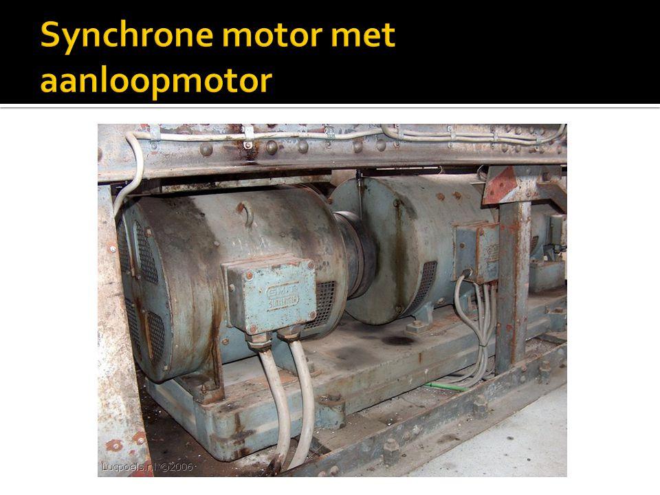 Synchrone motor met aanloopmotor