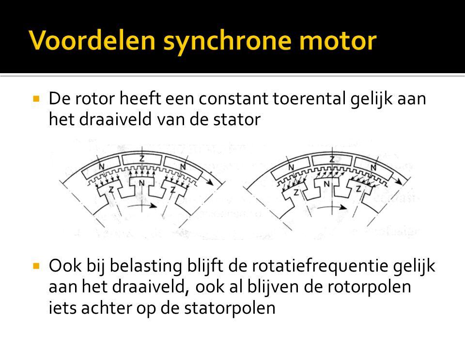 Voordelen synchrone motor