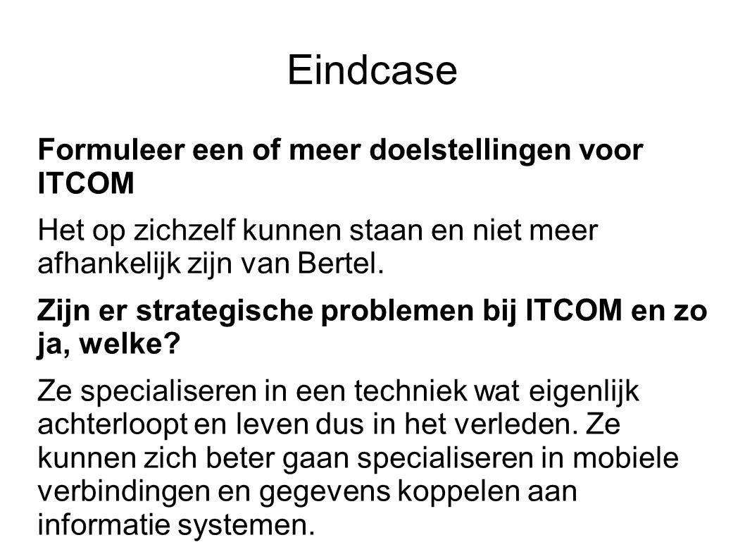 Eindcase Formuleer een of meer doelstellingen voor ITCOM