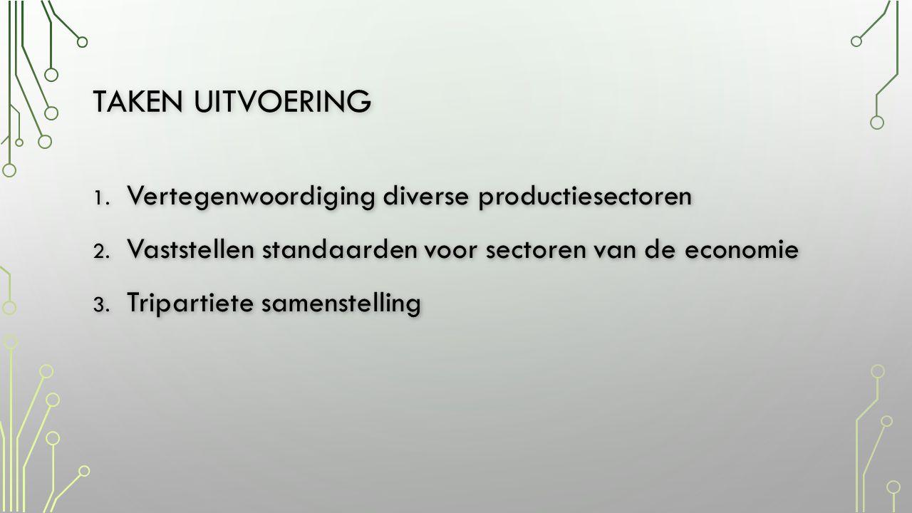 Taken uitvoering Vertegenwoordiging diverse productiesectoren