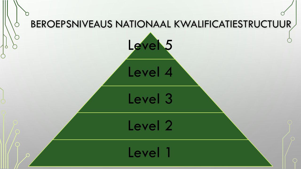 Beroepsniveaus nationaal kwalificatiestructuur