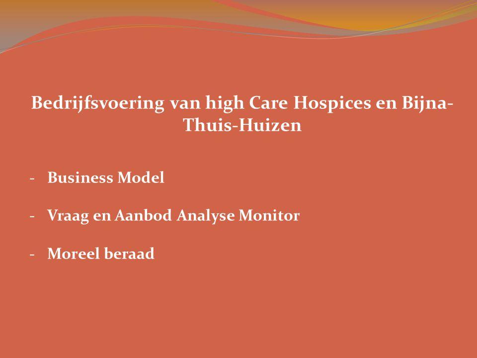 Bedrijfsvoering van high Care Hospices en Bijna-Thuis-Huizen