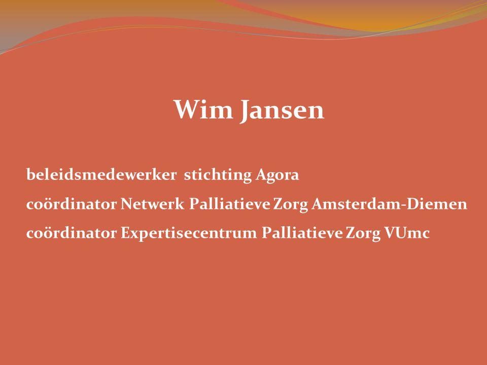Wim Jansen beleidsmedewerker stichting Agora