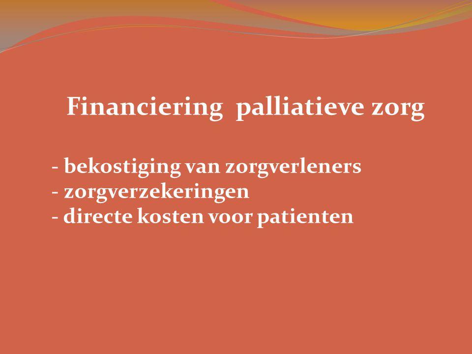Financiering palliatieve zorg