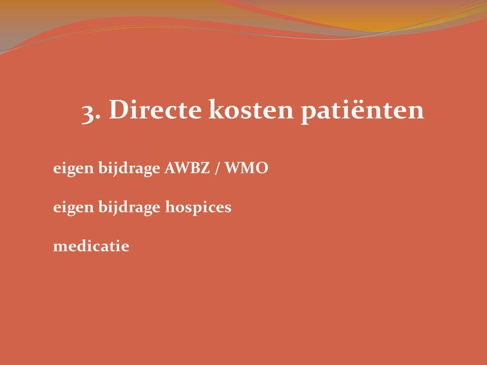 3. Directe kosten patiënten