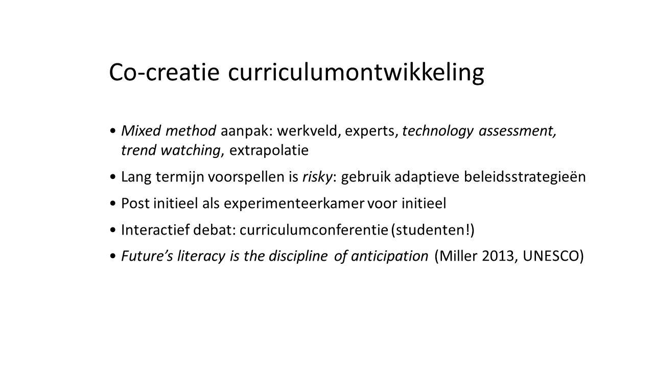 Co-creatie curriculumontwikkeling