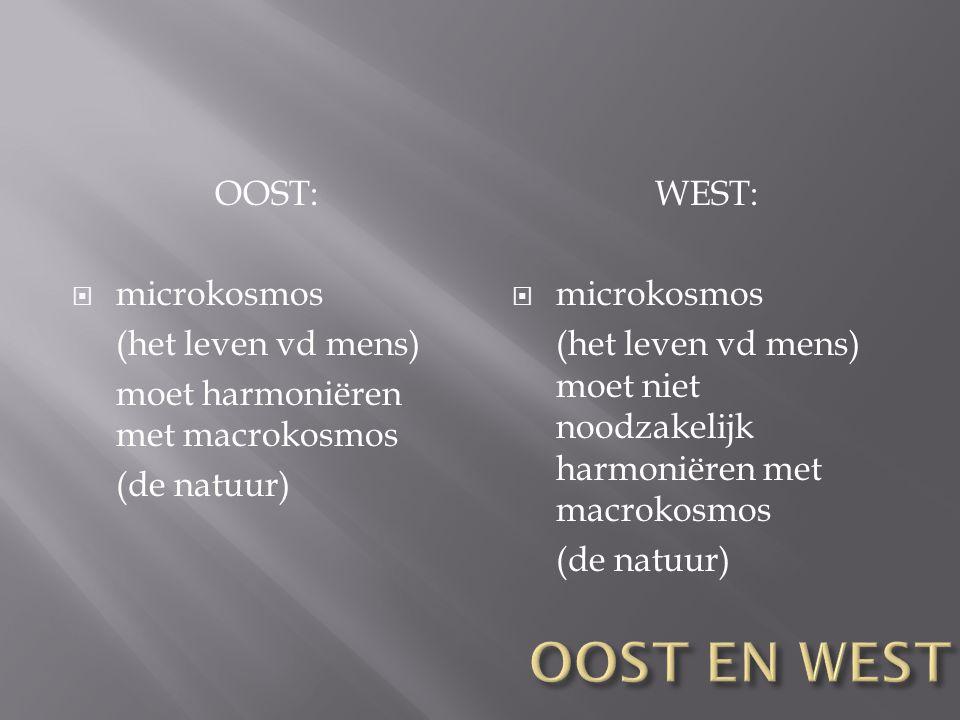 OOST EN WEST OOST: microkosmos (het leven vd mens)