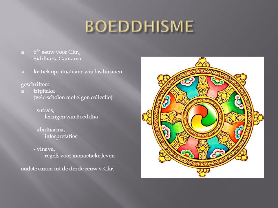 BOEDDHISME 6de eeuw voor Chr., Siddharta Gautama