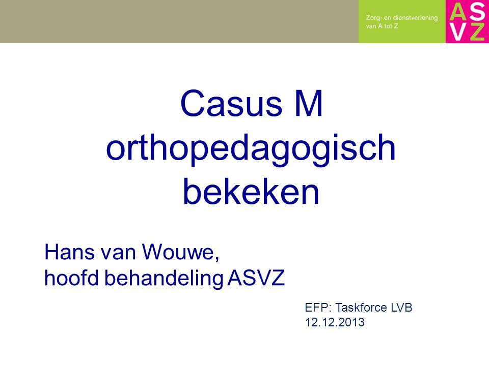 Casus M orthopedagogisch bekeken