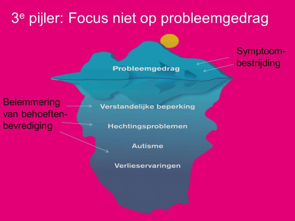 3e pijler: Focus niet op probleemgedrag