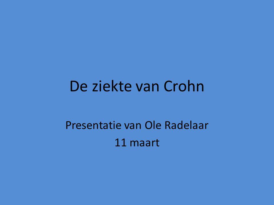 Presentatie van Ole Radelaar 11 maart