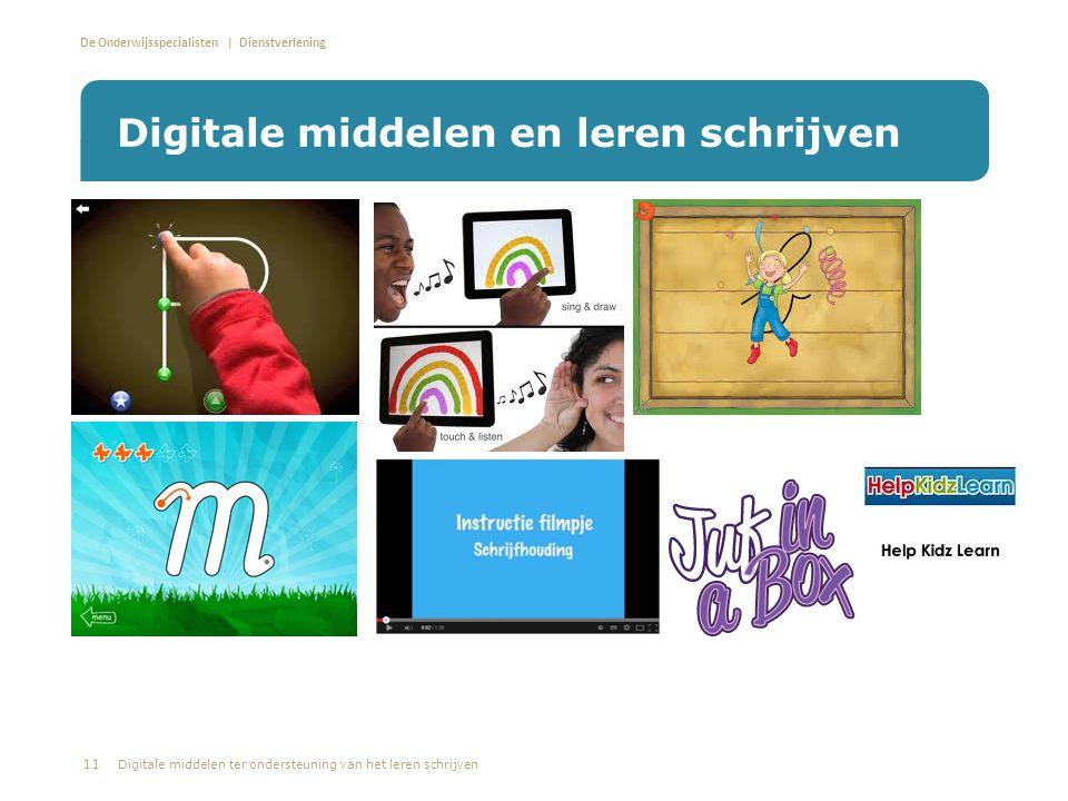 Digitale middelen en leren schrijven