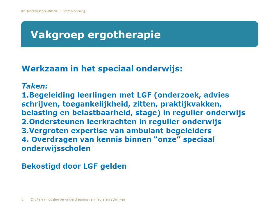 Vakgroep ergotherapie