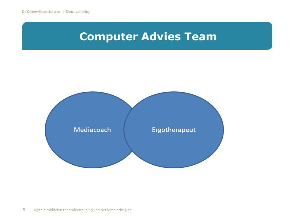 Computer Advies Team Mediacoach Ergotherapeut