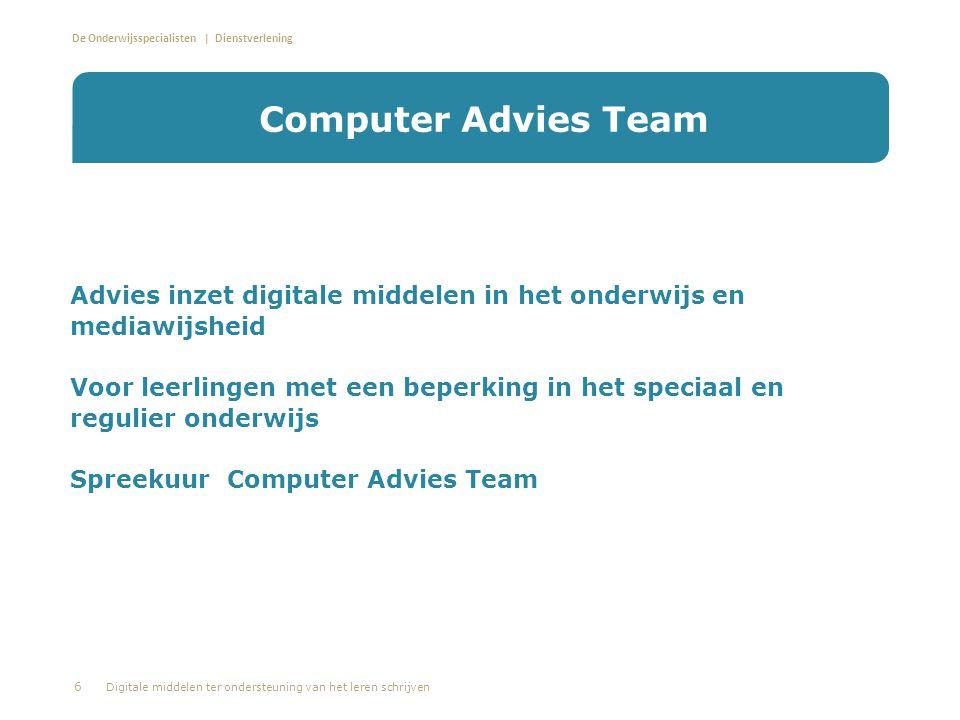 Computer Advies Team Advies inzet digitale middelen in het onderwijs en mediawijsheid.