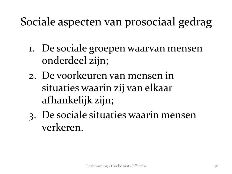 Sociale aspecten van prosociaal gedrag