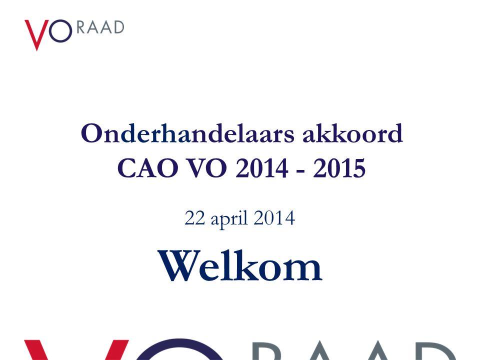 Onderhandelaars akkoord CAO VO 2014 - 2015