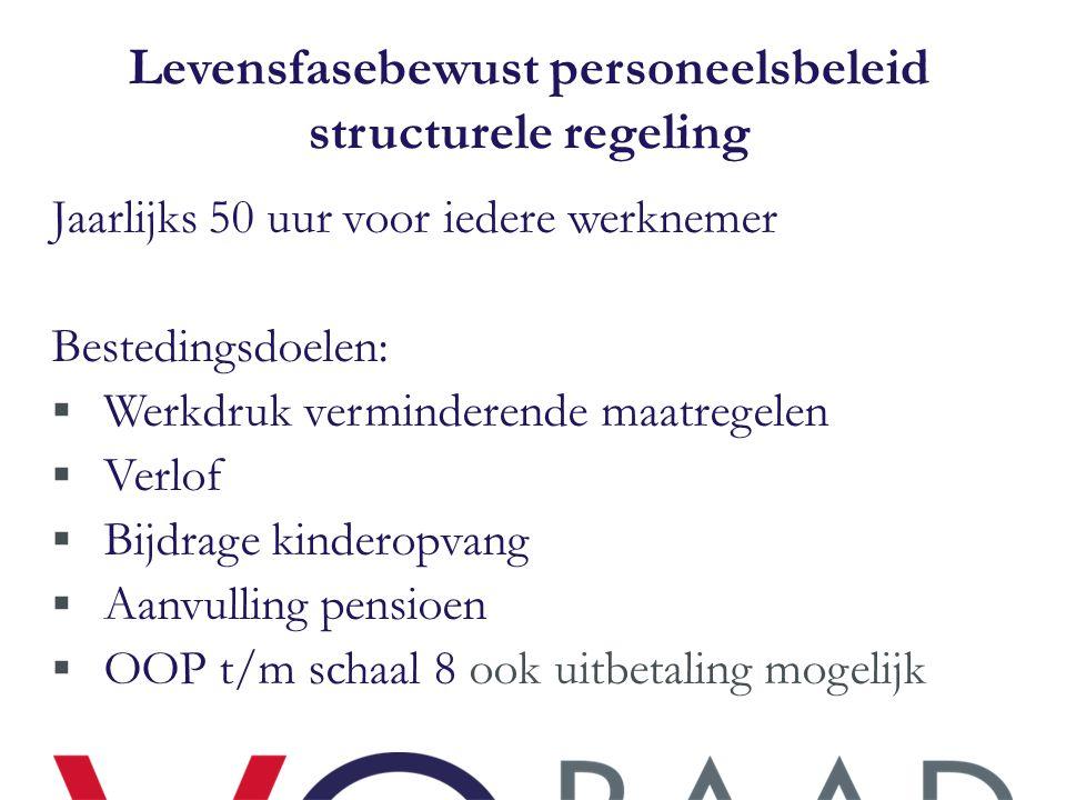Levensfasebewust personeelsbeleid structurele regeling