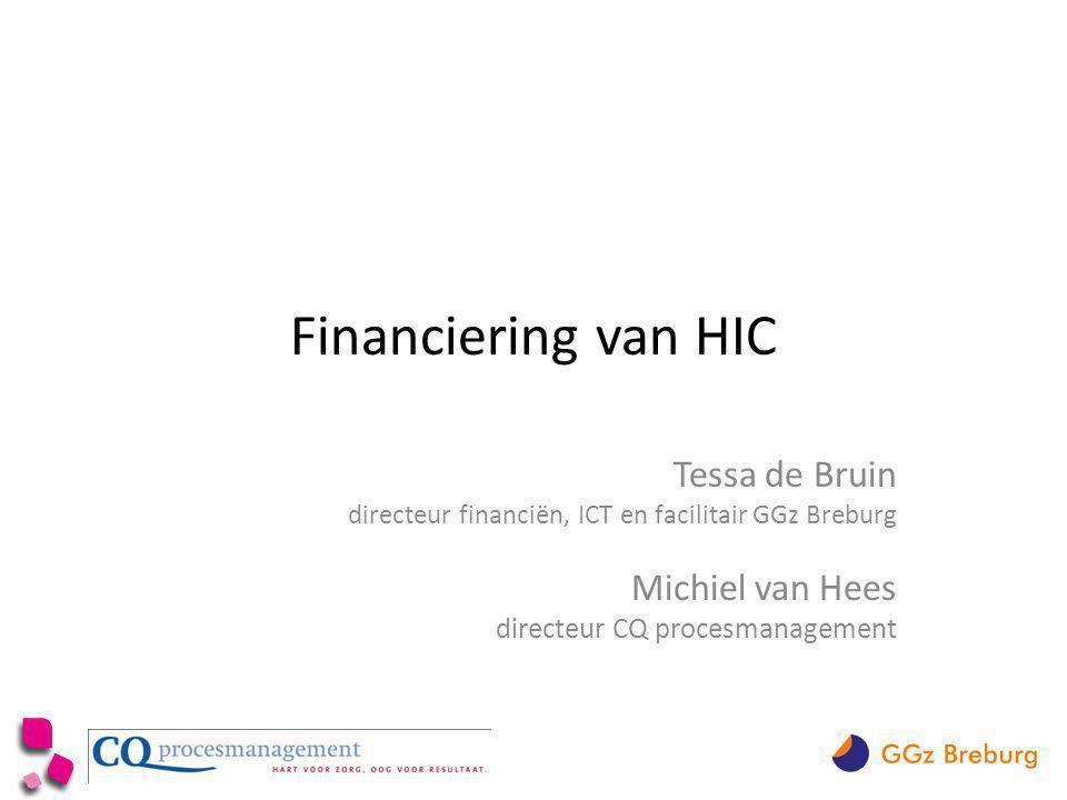Financiering van HIC Tessa de Bruin Michiel van Hees