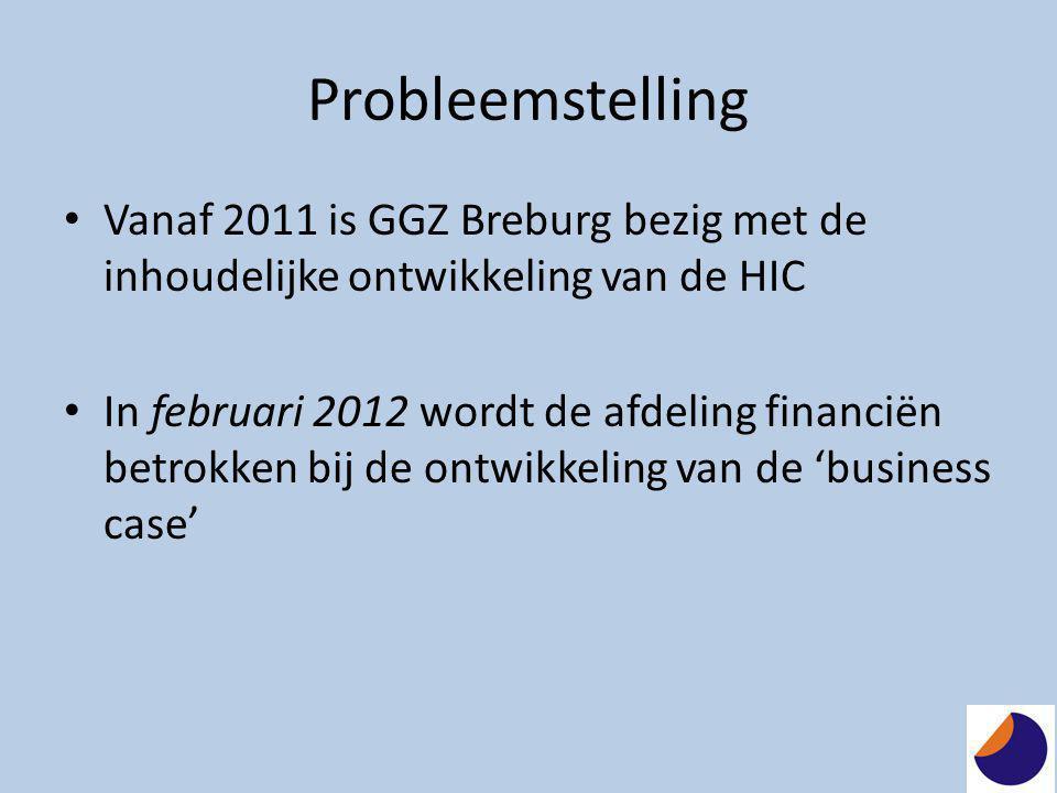 Probleemstelling Vanaf 2011 is GGZ Breburg bezig met de inhoudelijke ontwikkeling van de HIC.